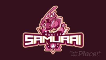Animated Basketball Logo Maker with a Samurai Character Illustration 1748aa-2937