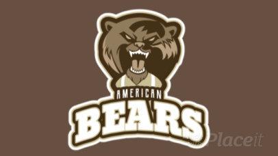Animated Football Logo Creator with a Ferocious Bear Graphic 245bb-2937