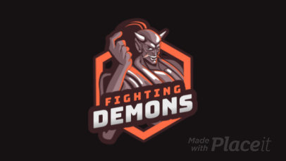 Animated Gaming Logo Creator with a Fighting Demon 1747gg-2927