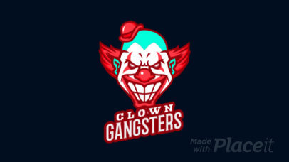 Animated Gaming Logo Maker with a Creepy Clown Character 1747hh-2926