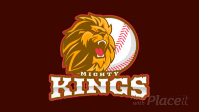 Animated Sports Logo Generator with a Fierce-Looking Lion for a Baseball Team 172uu-2926