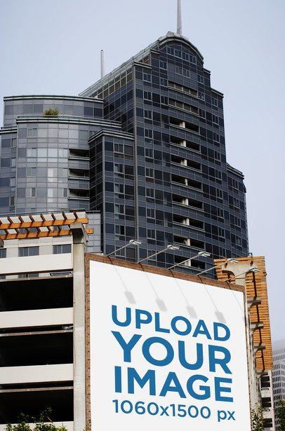 Mockup Featuring a Billboard Placed near a Modern Building 2740-el1