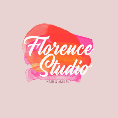 Hair and Makeup Artist Logo Creator with a Watercolor Graphic 2922c