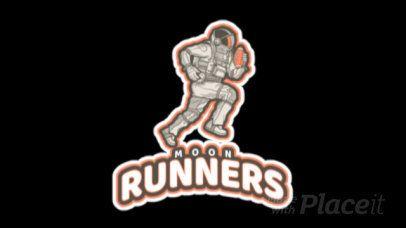 Football Logo Generator Featuring an Animated Running Astronaut a245vv-2936