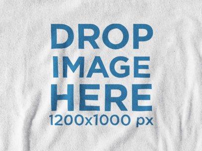 T-Shirt Close-Up Mockup of a Cotton Tee a12010