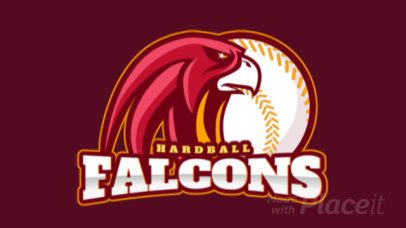 Sports Logo Maker Featuring an Animated Falcon and a Baseball Ball 172vv-2936