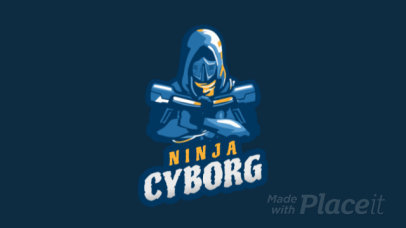 Animated Gaming Logo Maker Featuring a Hooded Cyborg Character 1747ii-2936
