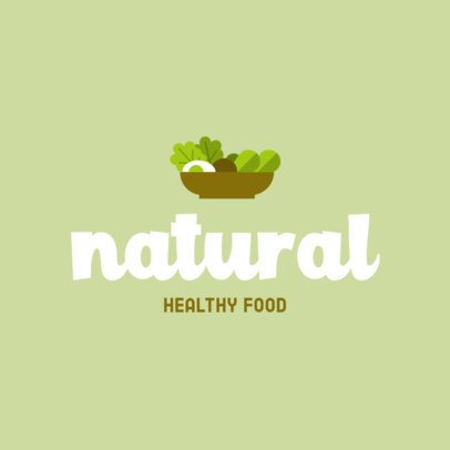 Logo Template for a Healthy Food Restaurant 818-el1