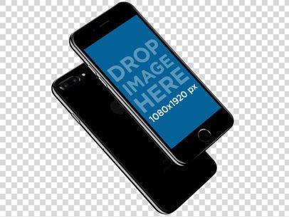 iPhone 7 Plus Mockup in Jet Black for App Marketing 12097