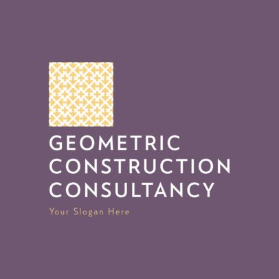 Consulting Business Logo Maker with Geometric Patterns 815-el1