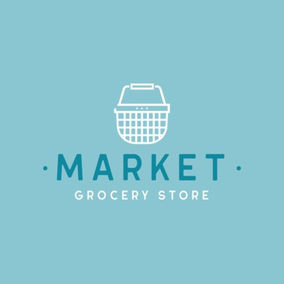 Minimal Logo Maker for a Grocery Store Featuring a Shopping Basket Icon 832c-el1