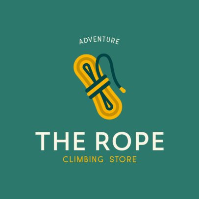 Climbing Shop Logo Creator Featuring a Rope Graphic 817c-el1