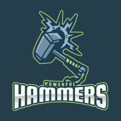 Logo Template for a Gaming Squad with a Hammer Graphic 2499pp 2964