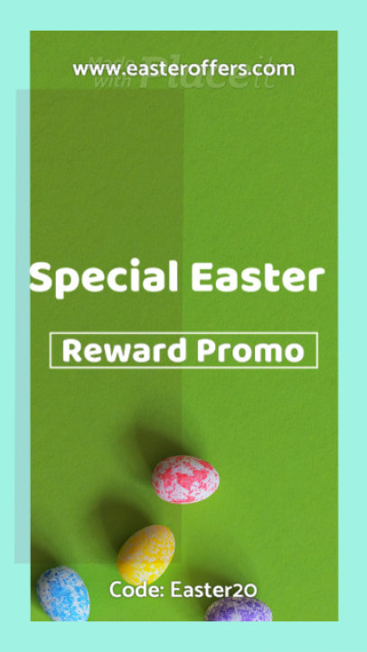 Easter Promo Instagram Story Video Maker with Frame Animations 255c-1985