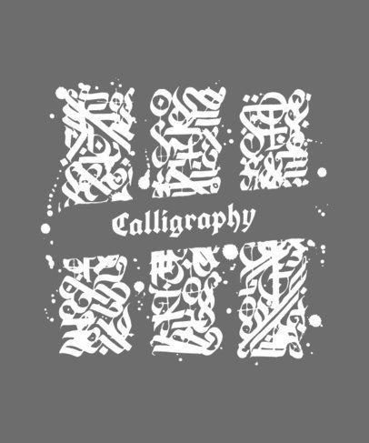 T-Shirt Design Template Featuring a Cursive Font 290e