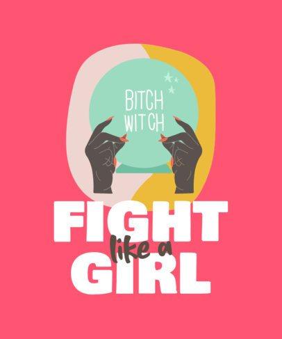 Feminist T-Shirt Design Maker Featuring a Short Quote 835b