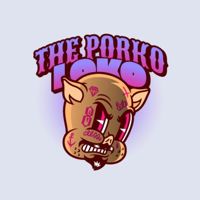 Streetwear Logo Creator with a 30s-Cartoon Style 2956h