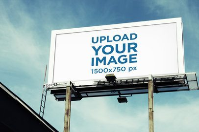 Mockup of a Billboard Seen From Below 2865-el1