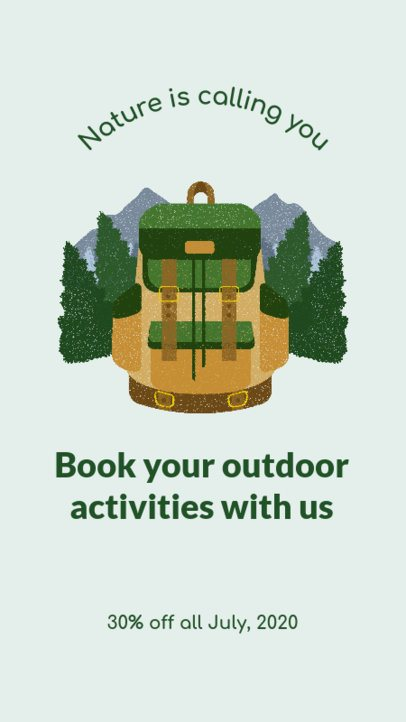 Instagram Story Maker for an Outdoor Experience Offer 2242a
