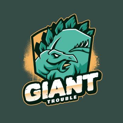 Online Logo Maker Featuring a Stegosaurus Dinosaur 2953f