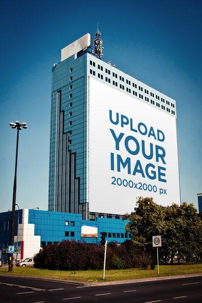 Mockup of a Billboard Placed on a Tall Building 2870-el1