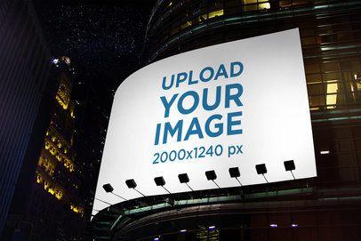 Billboard Mockup Featuring the City at Night 2873-el1