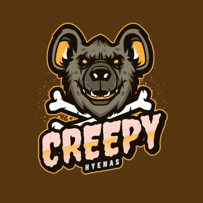 Gaming Logo Maker Featuring a Creepy Hyena Graphic 2975b