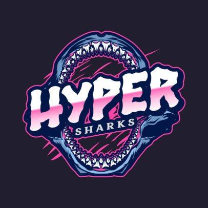 Logo Template for a Gaming Team with a Shark Jaw Graphic 2975f