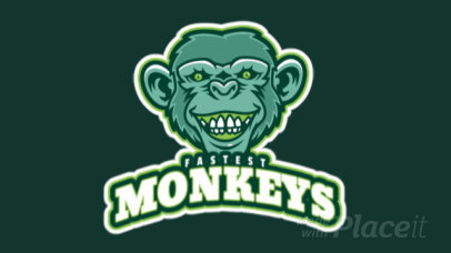 Gaming Logo Maker Featuring an Animated Smiling Monkey 1745o- 2964