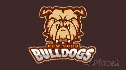 Sports Logo Generator Featuring an Aggressive Animated Bulldog Illustration 336y-2964
