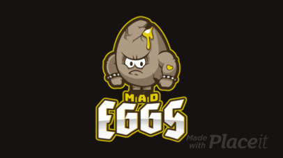Animated Logo Maker Featuring an Angry Egg Cartoon 1749u-2964