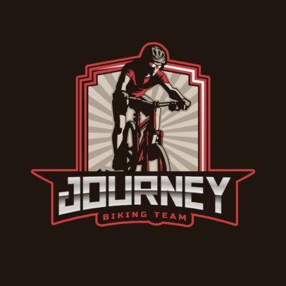 Sports Logo Template Featuring Mountain Biking Graphics 2968