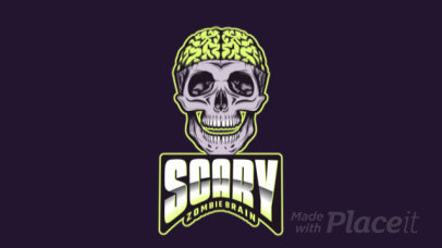 Gaming Logo Creator Featuring an Animated Scary Zombie Skull 2786hh-2964