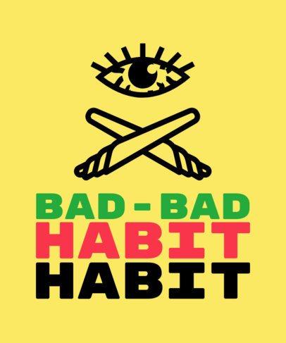 T-Shirt Design Creator Featuring Cannabis Culture Illustrations 2258h