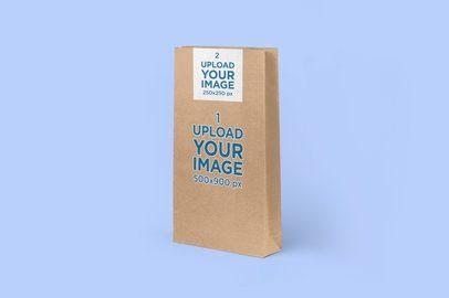 Paper Bag Mockup Featuring a Solid-Color Background 2612-el1