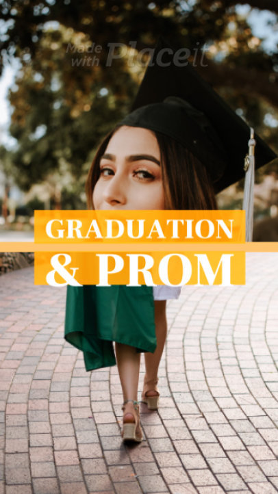 Graduation-Themed Instagram Story Video Maker for a Beauty Brand Sale 1674c-1840