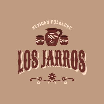 Restaurant Logo Template for a Mexican Traditional Food Place 2976b