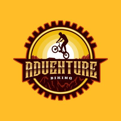 Logo Maker for an MTB Club with a Cyclist Graphic 2968g