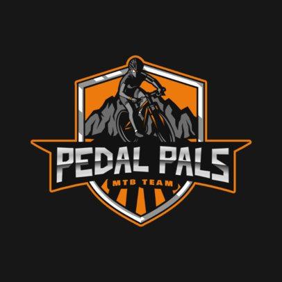 Sports Logo Creator with an MTB Biker Illustration 2968h
