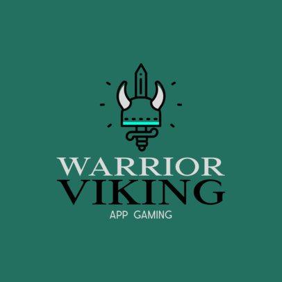 Viking-Themed Mobile Gaming Logo Generator 871c-el1