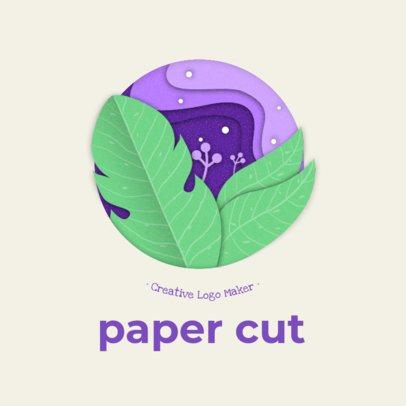 Cool Logo Maker Featuring Paper Cut Illustrations 2999