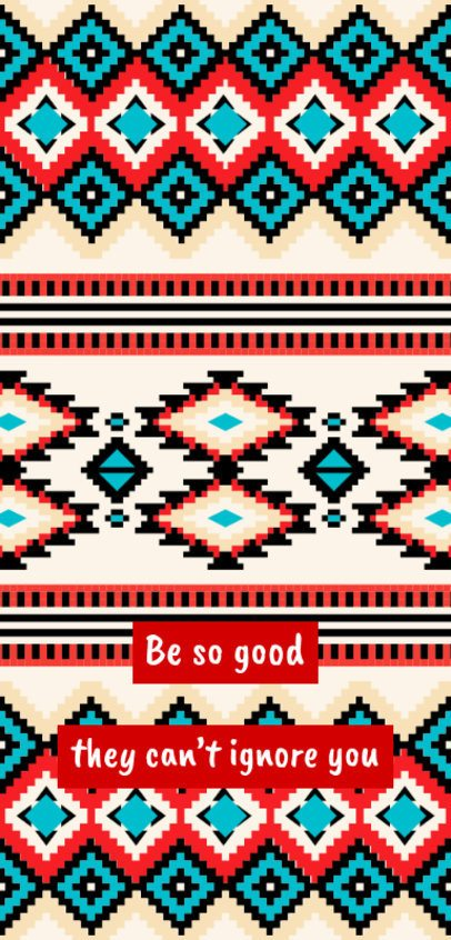 Phone Case Design Template with a Colorful Woven Pattern 2307d