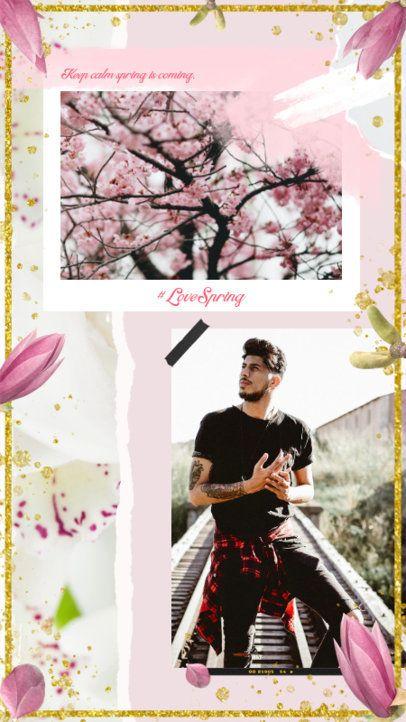 Instagram Story Maker Featuring Spring Frames for Photos 2308e