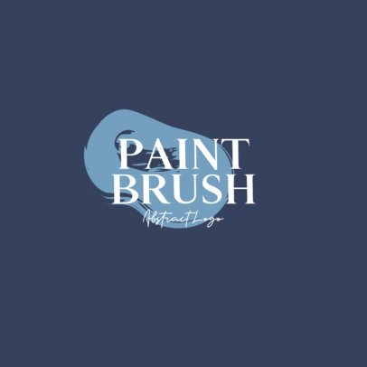 Abstract Logo Template Featuring Brush Strokes 933-el1
