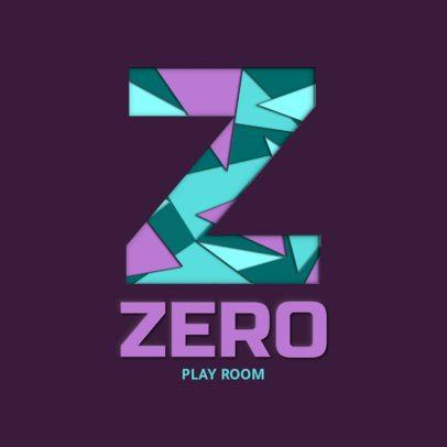 Logo Template Featuring a Paper Cut Font 2998h