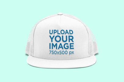 Mockup of the Front View of a Trucker Hat 3052-el1