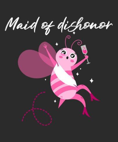 T-Shirt Design Creator for a Maid of Honor 2319e
