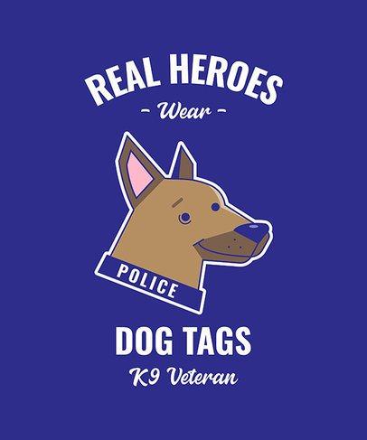 T-Shirt Design Maker Featuring K9 Dog Illustrations 2317