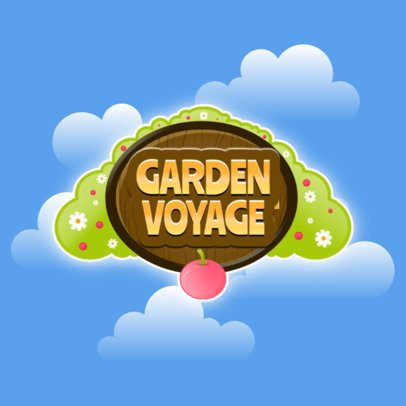 Gardening Mobile Game Logo Maker Featuring a Cherry Tree 3007d