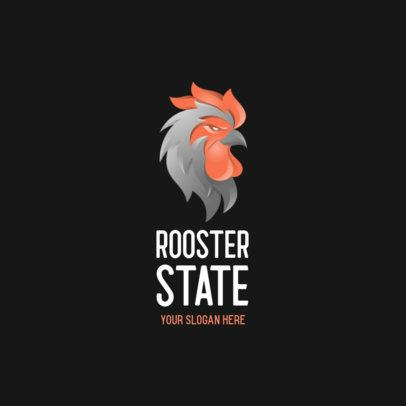 Logo Maker with an Imposing Rooster Graphic 357c-el1